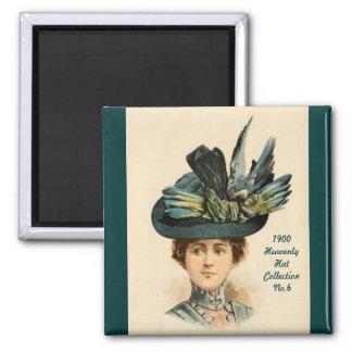 1900 imán de la colección No.6 del gorra de la mod