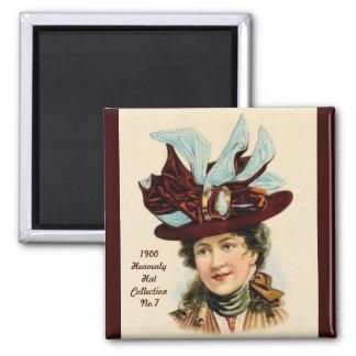 1900 imán de la colección No.7 del gorra de la mod