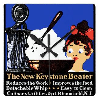 1900 Keystone Beater Square Wall Clocks