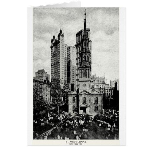 1900 la capilla de San Pablo, New York City Tarjeta De Felicitación