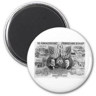1900 Mckinley - Roosevelt 2 Inch Round Magnet