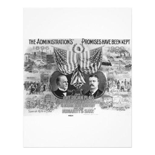 """1900 Mckinley - Roosevelt 8.5"""" X 11"""" Flyer"""