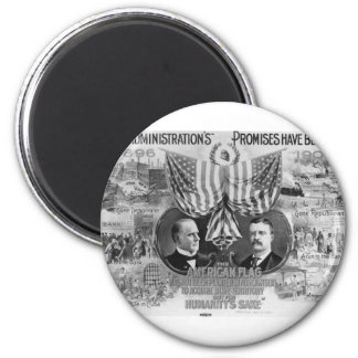 1900 Mckinley - Roosevelt Magnet