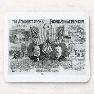 1900 Mckinley -Teddy Roosevelt Mouse Pads