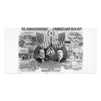 1900 Mckinley -Teddy Roosevelt Personalized Photo Card
