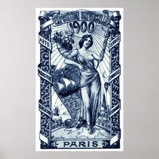 1900 Paris International Expo Poster