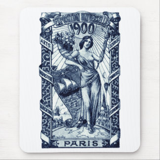 1900 Paris International Expo Poster Mouse Pad