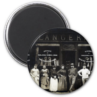 1900 Parisian Bakery 2 Inch Round Magnet