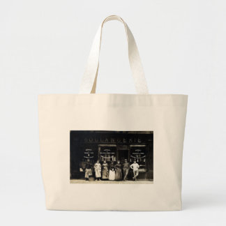 1900 Parisian Bakery Large Tote Bag