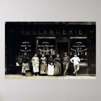 1900 Parisian Bakery Poster