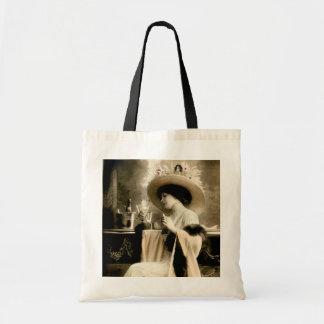 1900 Parisian Woman Drinking Champagne Tote Bag