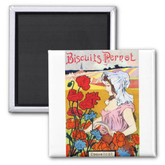 1900 Pernot Bisquits 2 Inch Square Magnet