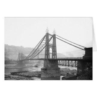 1900 Pointe Bridge Pittsburgh Pa. Greeting Card