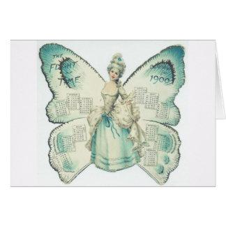 1900 Pretty Lady Calendar Card