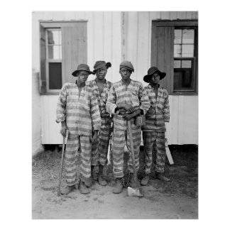 1900 Southern Chain Gang Poster