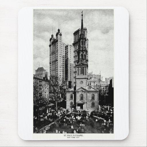 1900 St. Paul's Chapel, New York City Mousepad