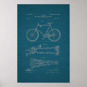 Blueprint posters zazzle 1900 vintage bicycle patent print blueprint art malvernweather Image collections