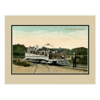 1900 Vintage Observation car Montreal Postcard