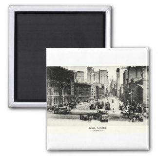 1900 Wall Street 2 Inch Square Magnet