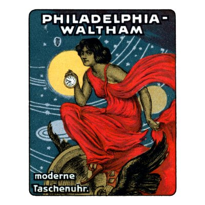 1900 Waltham Pocket Watch Poster pin