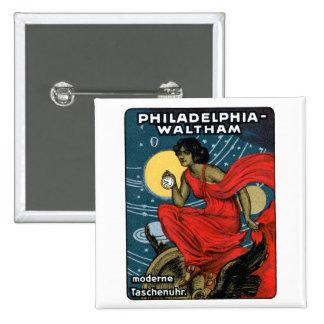 1900 Waltham Pocket Watch Poster Pinback Button