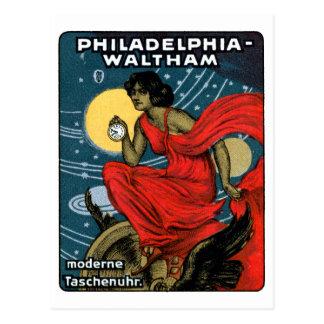 1900 Waltham Pocket Watch Poster Postcard