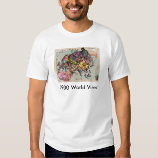 1900 World View Map Tee Shirt
