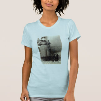 1900 Young Girl and her Hound T-Shirt