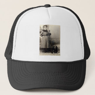 1900 Young Girl and her Hound Trucker Hat