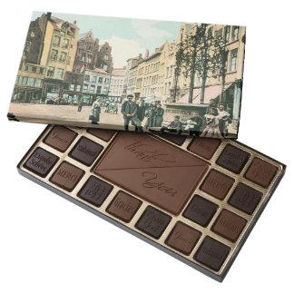 1900s Antwerp Belgium city center restored 45 Piece Box Of Chocolates