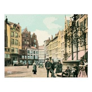 1900s Antwerp Belgium city center restored Postcard