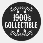 1900's coleccionable 100o Birhday Etiquetas Redondas
