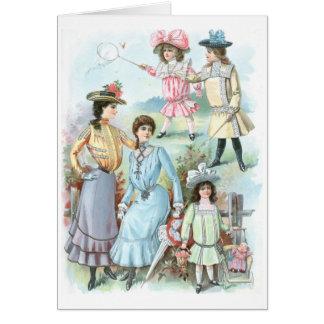 1900s Fashion Greeting Card