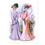 1900s Fashion Dresses Postcard