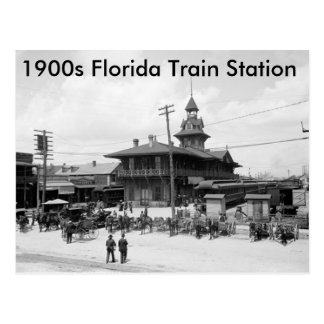 """1900s Florida Train Station"" Postcard"