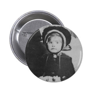 1900's Girl with Hand Muffler Button