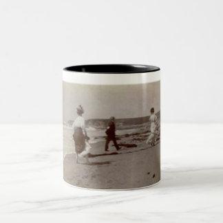1900's group at the beach mug