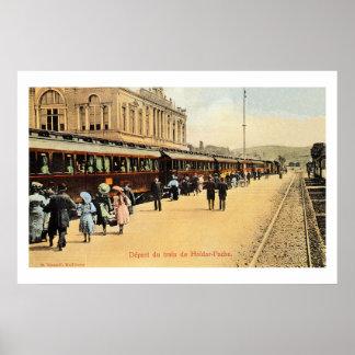 1900s Haydarpasa railroad station, train Poster