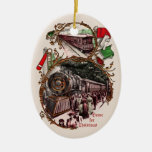 1900s Home for Christmas Train Ornament