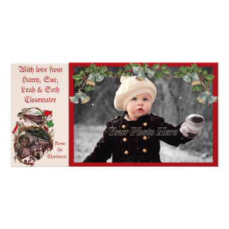 1900s Home for Christmas Train Photocard Card