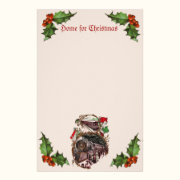 1900s Home for Christmas Train Stationery