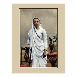 1900s la India, mujer del vintage de Parsi Tarjeta Postal