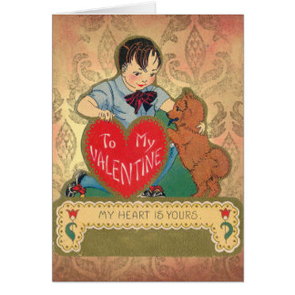 1900's MY HEART IS YOURS chow valentine Card