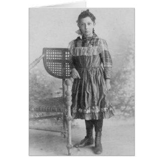 1900's Portrait of Girl Card