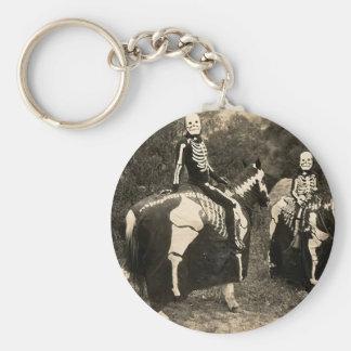 1900's Skeleton Horsemen Keychain