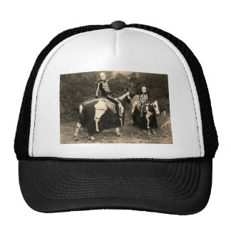 1900's Skeleton Horsemen Trucker Hat