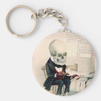 1900s skull skeleton pharmaceutical ad key chain