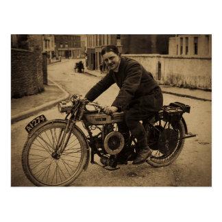 1900s tempranos de la motocicleta británica del postal