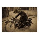 1900s tempranos de la motocicleta británica del vi felicitación