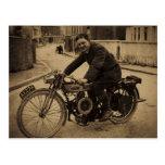 1900s tempranos de la motocicleta británica del vi postales